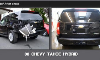 Before And After Gallery Accucraft Collision Center In Seattle 08 Chevy Tahoe Hybrid